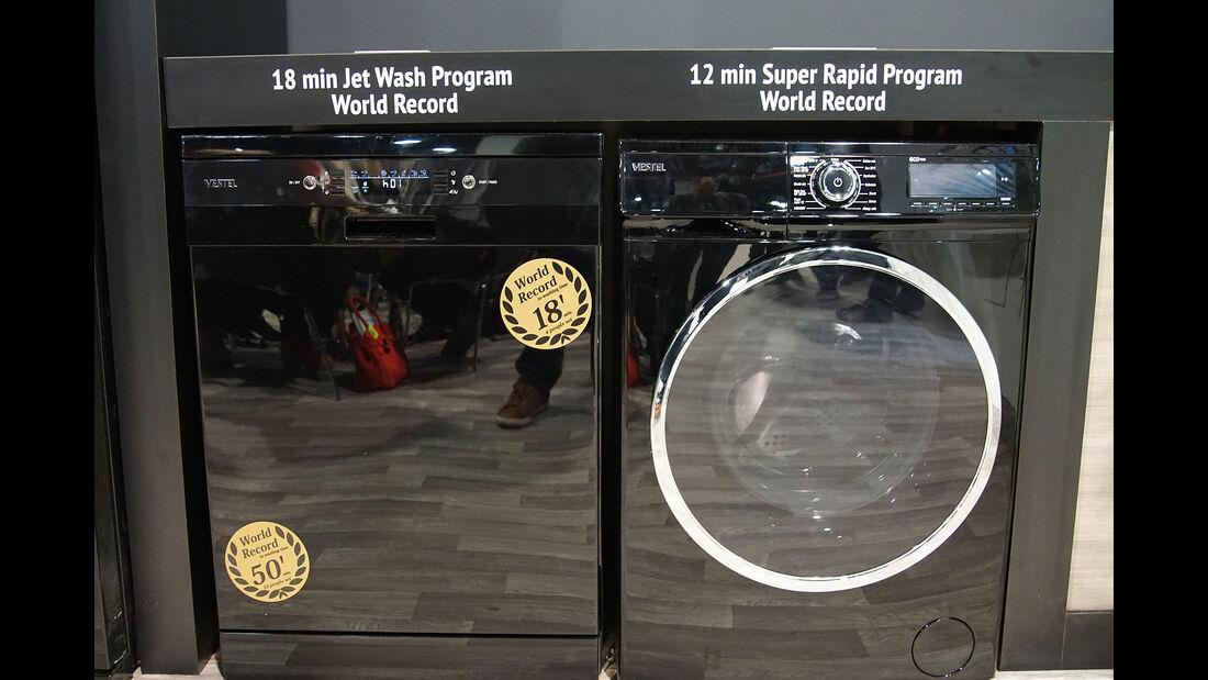 CES 2017, schnelle Waschmaschine, schneller Geschirrspüler