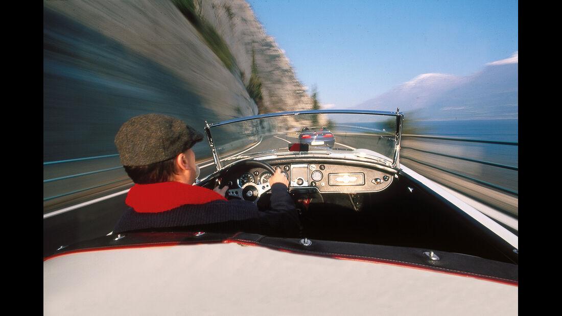 Cabrio, Fahrersicht