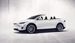 Cabrio SUV Retusche Tesla Model X