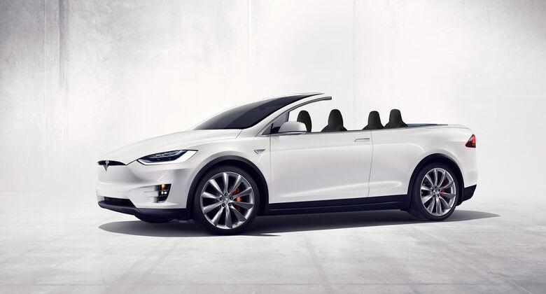 Cabrio SUV Retusche Tesla Model X
