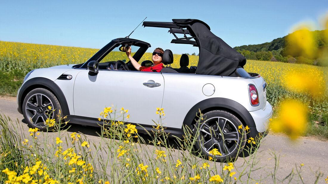 Cabrio-Verdecke, Mini, Verdeck öffnen