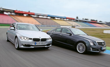 Cadillac ATS 2.0 Turbo, BMW 328i, Frontansicht