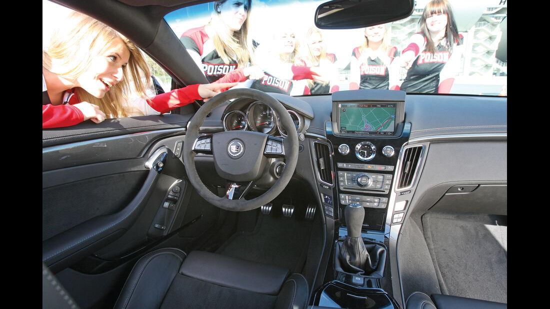 Cadillac CTS-V Coupé, Cockpit, Lenkrad