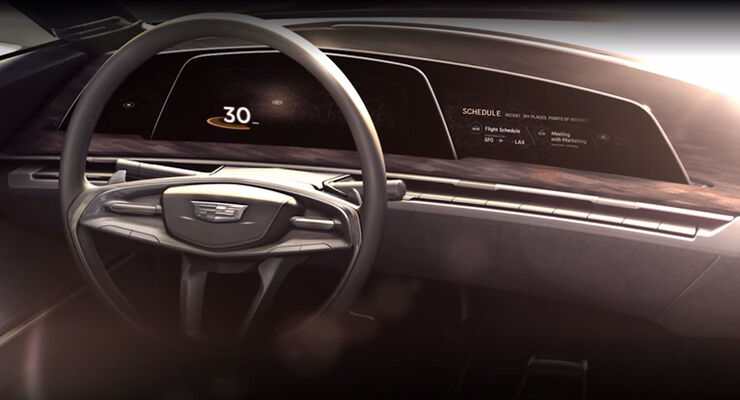 Cadillac Design Studie Pebble Beach 2016 Cockpit
