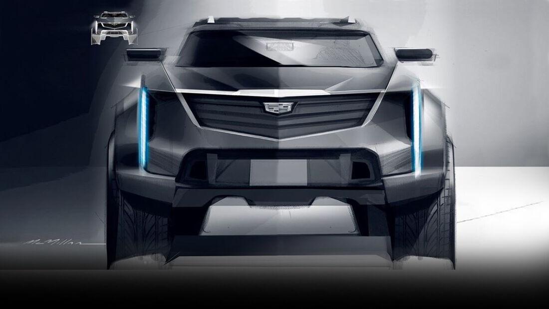 Cadillac Elektro SUV Hummer Basis Skizze