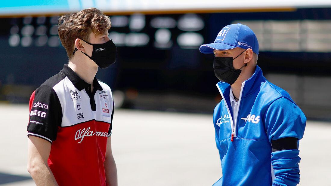 Callum Ilott & Mick Schumacher - Formel 1 - Portimao - GP Portugal - 29. April 2021