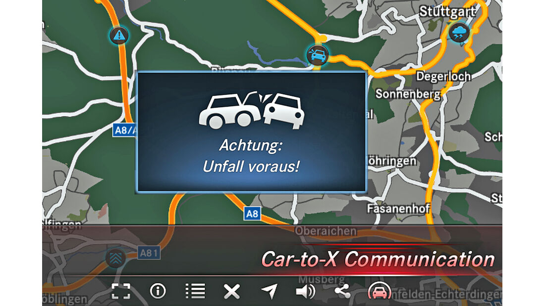 Car-to-X-Technologie, Display, Anzeige
