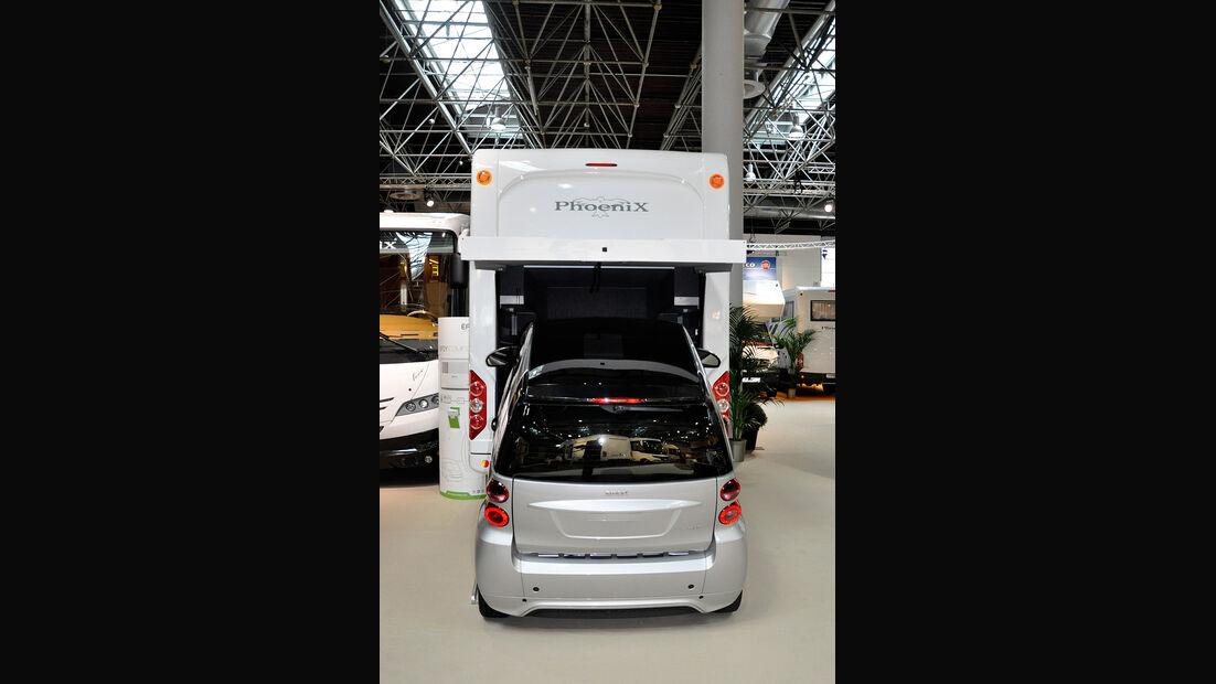 Caravan Salon 2014, Phoenix, Wohnmobil mit Garage