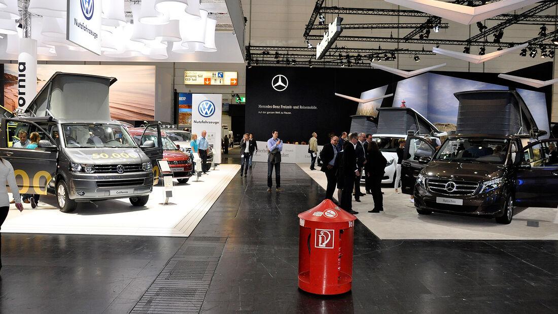 Caravan Salon 2014, VW California, Mercedes Marco Polo