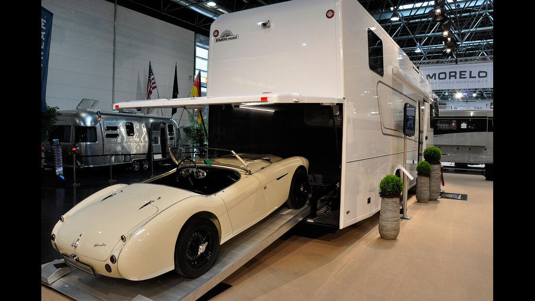 Caravan Salon 2014, Vario Mobil Perfect, Wohnmobil mit Garage
