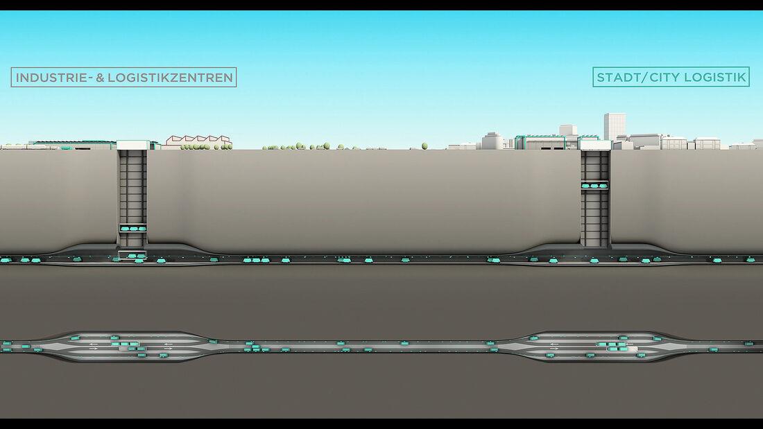 Cargo sous Terrain CST unterirdisches Transportsystem