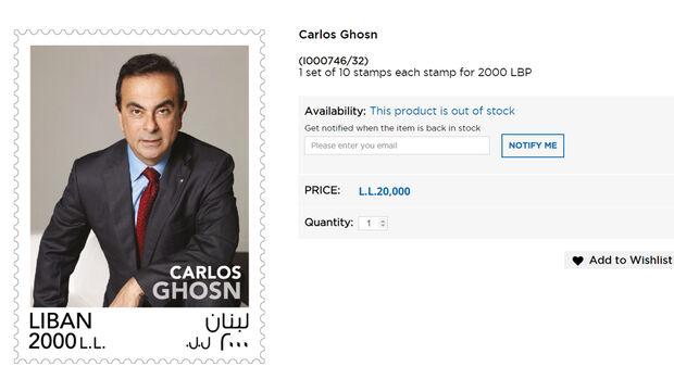 Carlos Ghosn Briefmarke