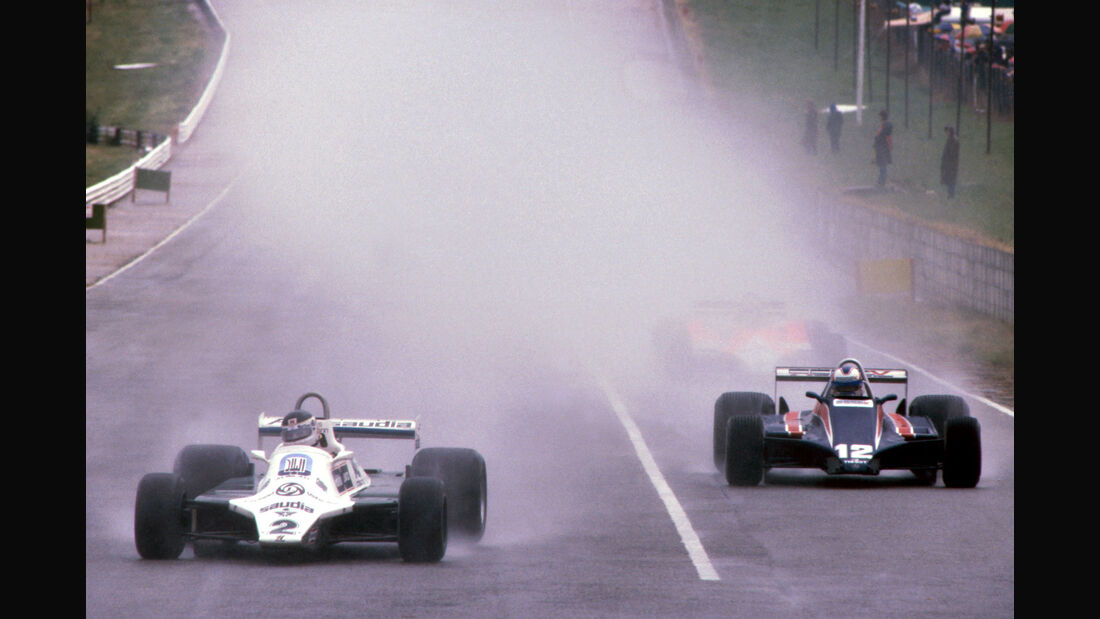Carlos Reutemann - Williams FW07C - Nigel Mansell (GBR) - Lotus 81B - GP Südafrika 1981 - Kyalami