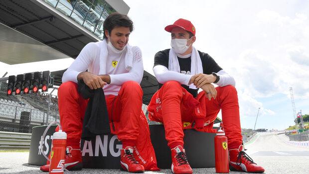 Carlos Sainz & Charles Leclerc - Ferrari - F1 - 2021