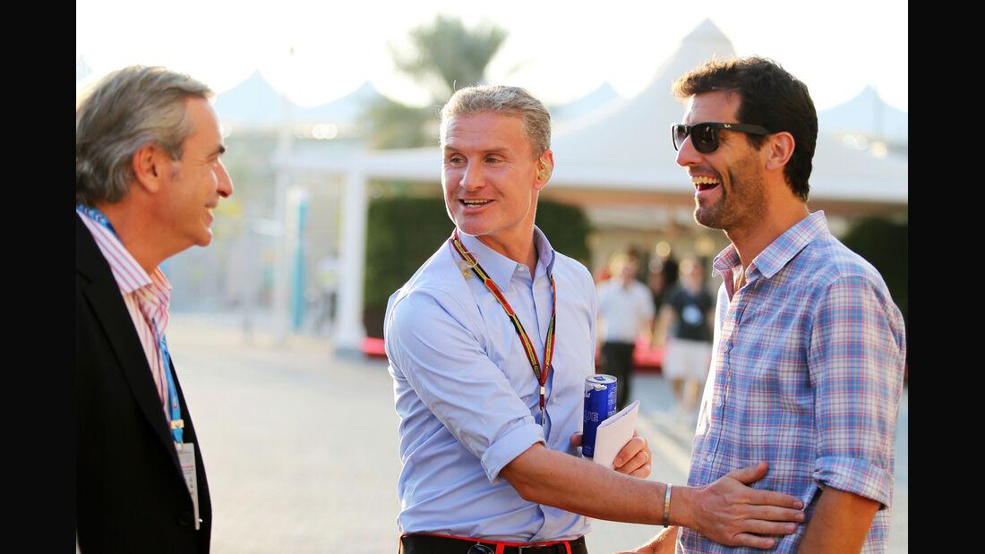 Carlos Sainz, David Coulthard & Mark Webber - Formel 1 - GP Abu Dhabi - 22. November 2014