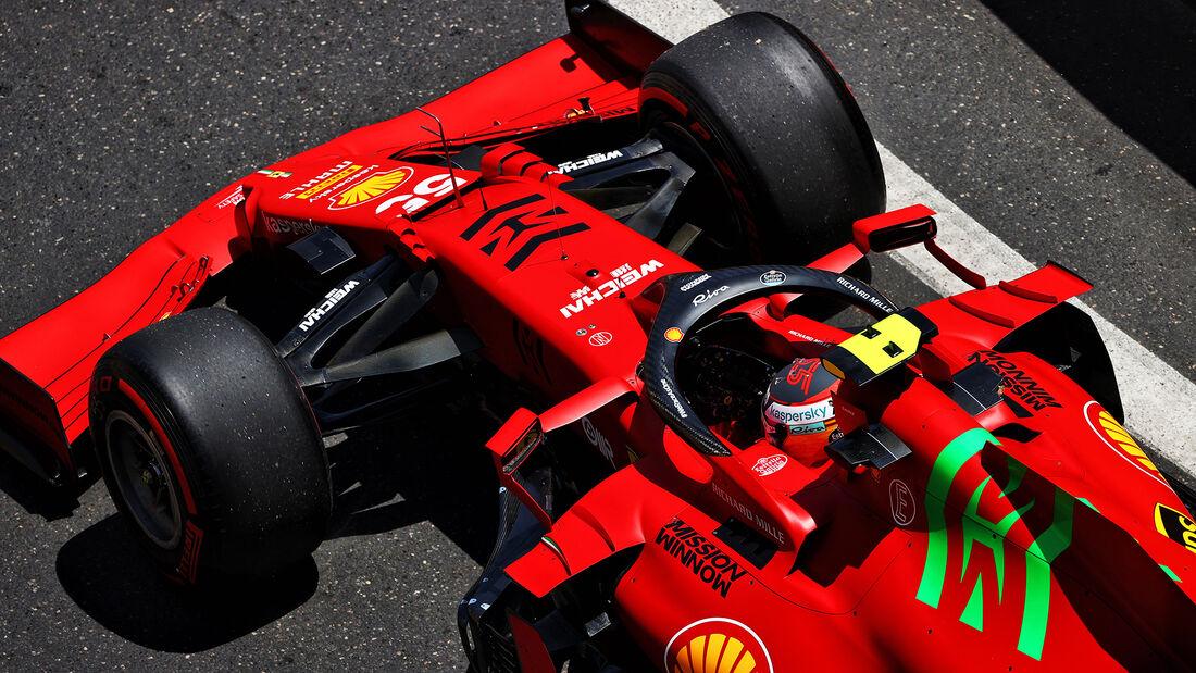 Carlos Sainz - Ferrari - Formel 1 - GP Aserbaidschan - Baku - Freitag - 4.6.2021