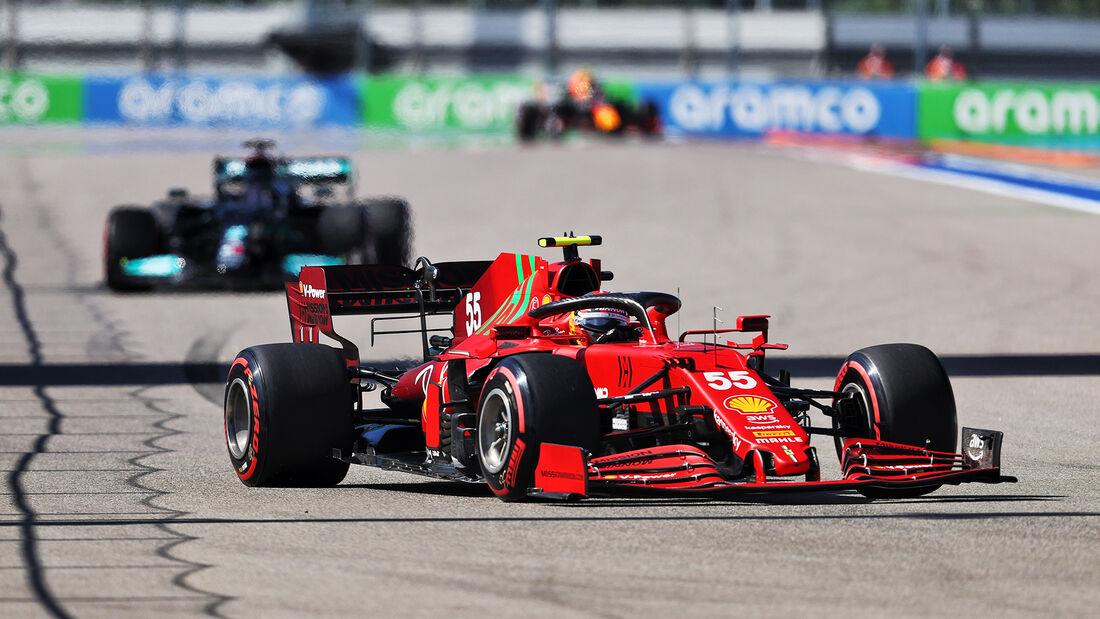 Carlos Sainz - Ferrari - Formel 1 - GP Russland - Sotschi - 24. September 2021