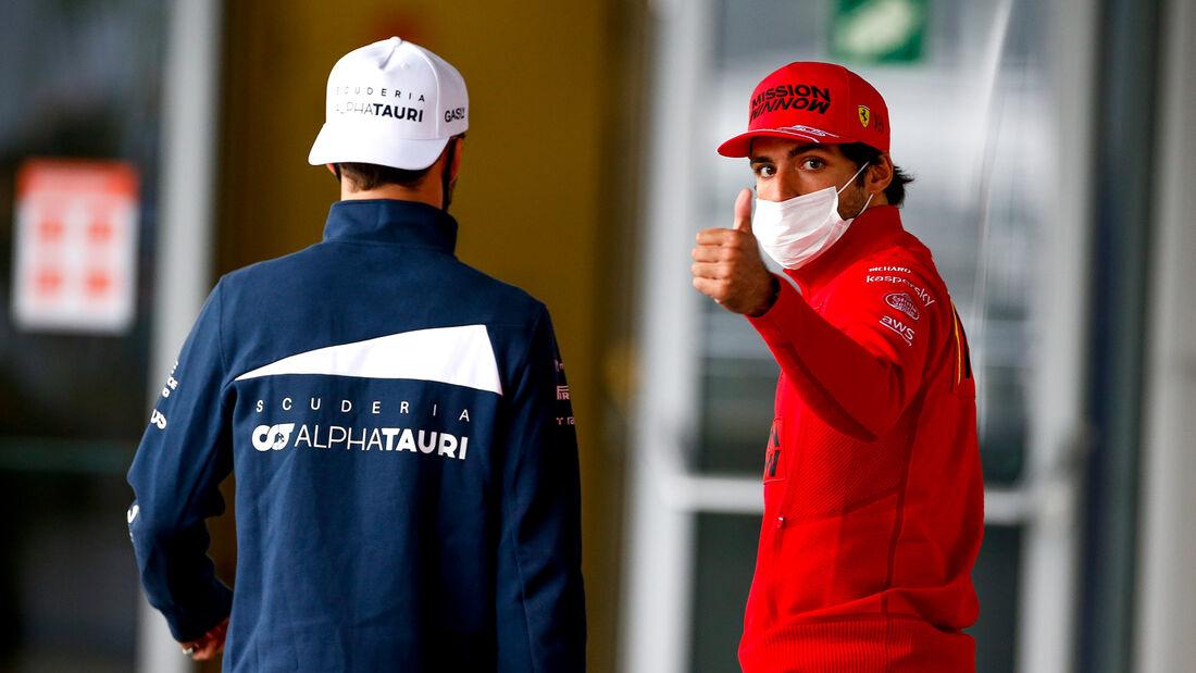 Carlos Sainz - Ferrari - Formel 1 - GP Russland - Sotschi - Donnerstag - 23.09.2021