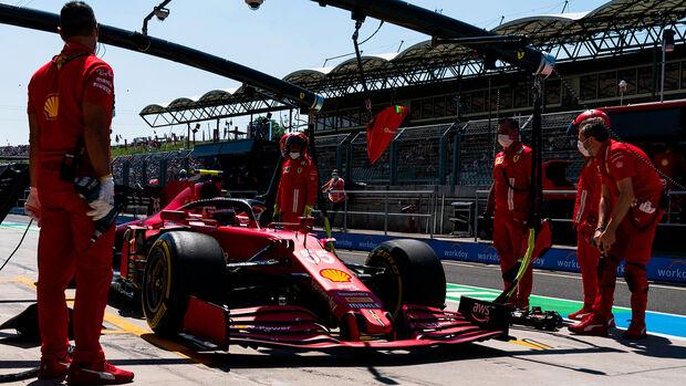 Carlos Sainz - Ferrari - Formel 1 - GP Ungarn - Budapest - Freitag - 30. Juli 2021