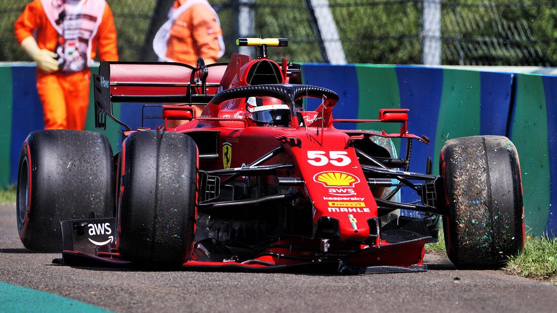 Carlos Sainz - Ferrari - Formel 1 - GP Ungarn - Budapest - Samstag - 31. Juli 2021