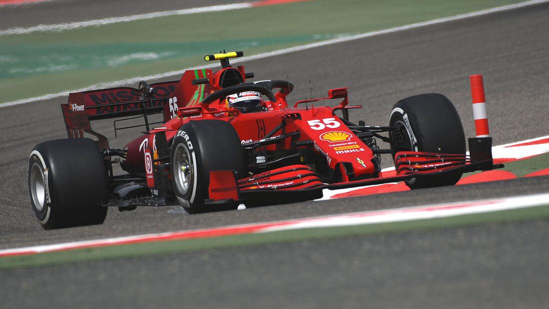 Carlos Sainz - Ferrari - Formel 1 - Test - Bahrain - 13. März 2021