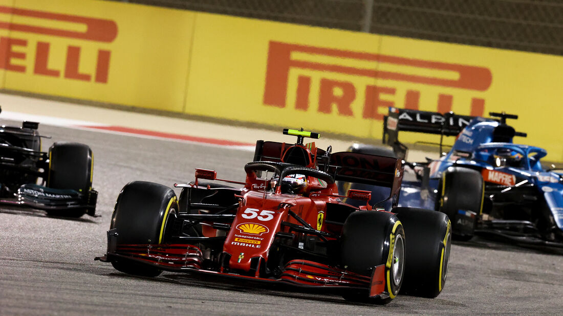 Carlos Sainz - Ferrari - GP Bahrain 2021 - Rennen