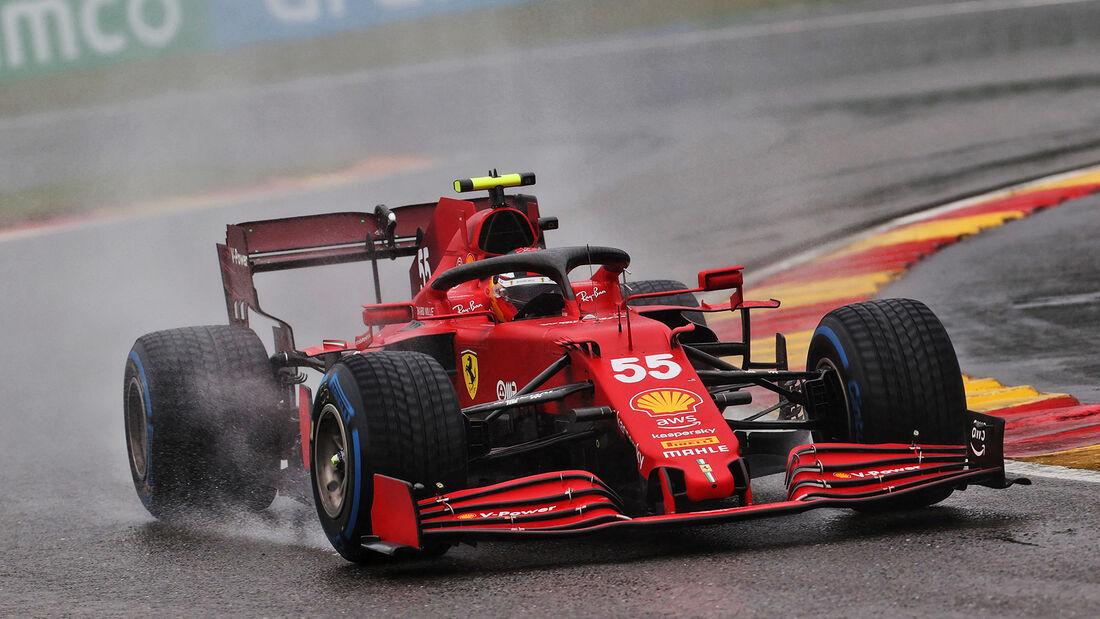 Carlos Sainz - Ferrari - GP Belgien 2021 - Spa-Francorchamps