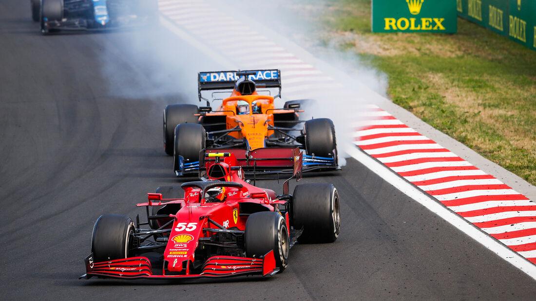 Carlos Sainz - Ferrari - GP Ungarn 2021 - Budapest - Rennen