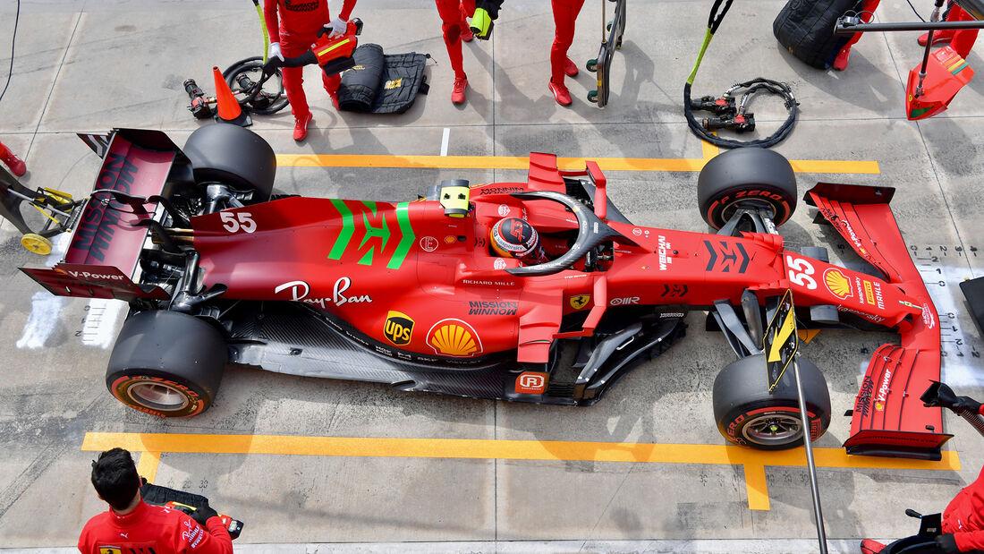 Carlos Sainz - Ferrari - Imola - Formel 1 - GP Emilia Romagna - 17. April 2021
