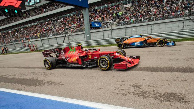 Carlos Sainz - Ferrari - Lando Norris - McLaren - GP Russland 2021 - Sotschi