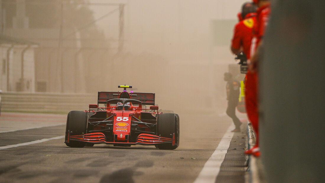 Carlos Sainz - Ferrari - Test - Formel 1 - Bahrain - 12. März 2021