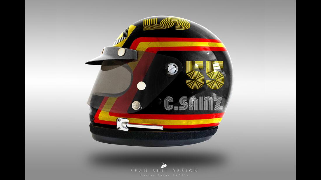 Carlos Sainz - Formel 1 - Retro-Helme - Sean Bull - 2018