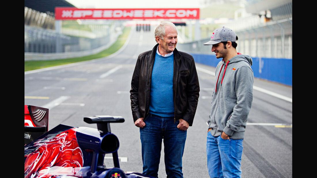 Carlos Sainz - Helmut Marko - Red Bull - 2014