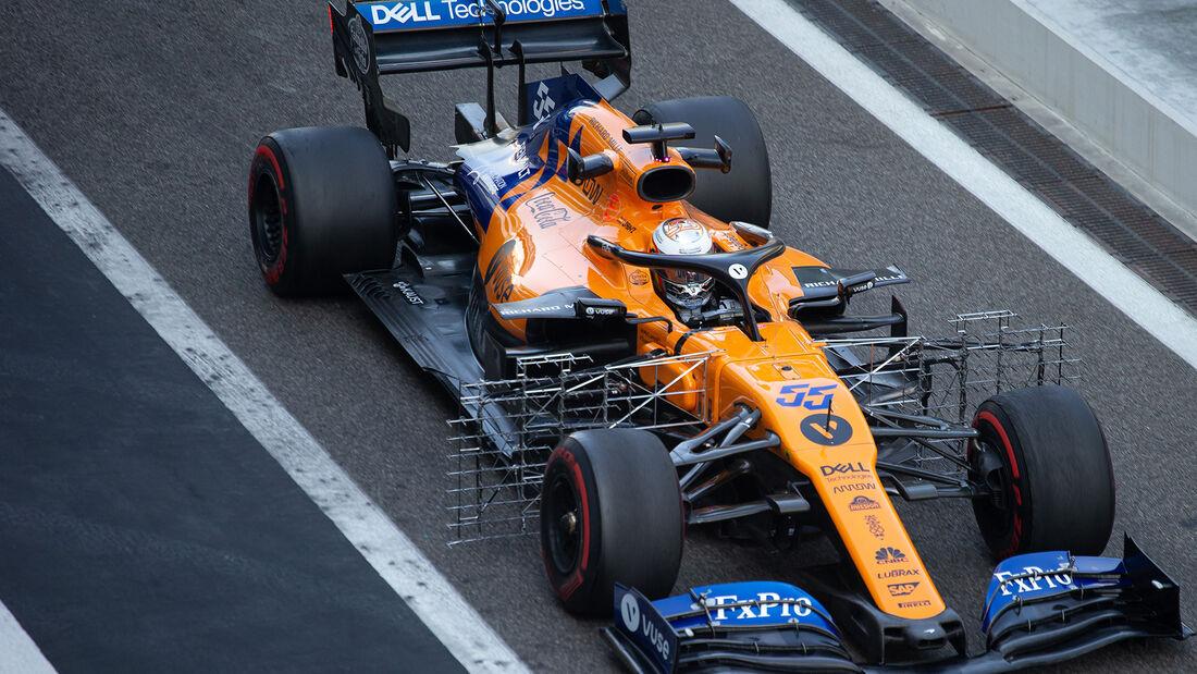 Carlos Sainz - McLaren - F1-Test - Abu Dhabi - 4. Dezember 2019