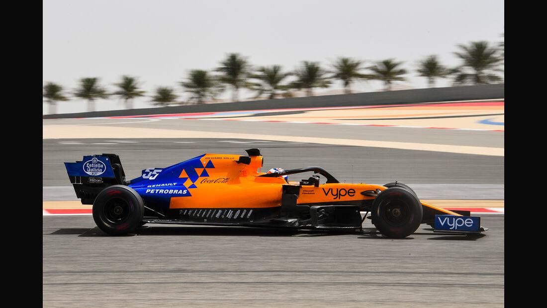 Carlos Sainz - McLaren - F1-Test Bahrain - 3. April 2019