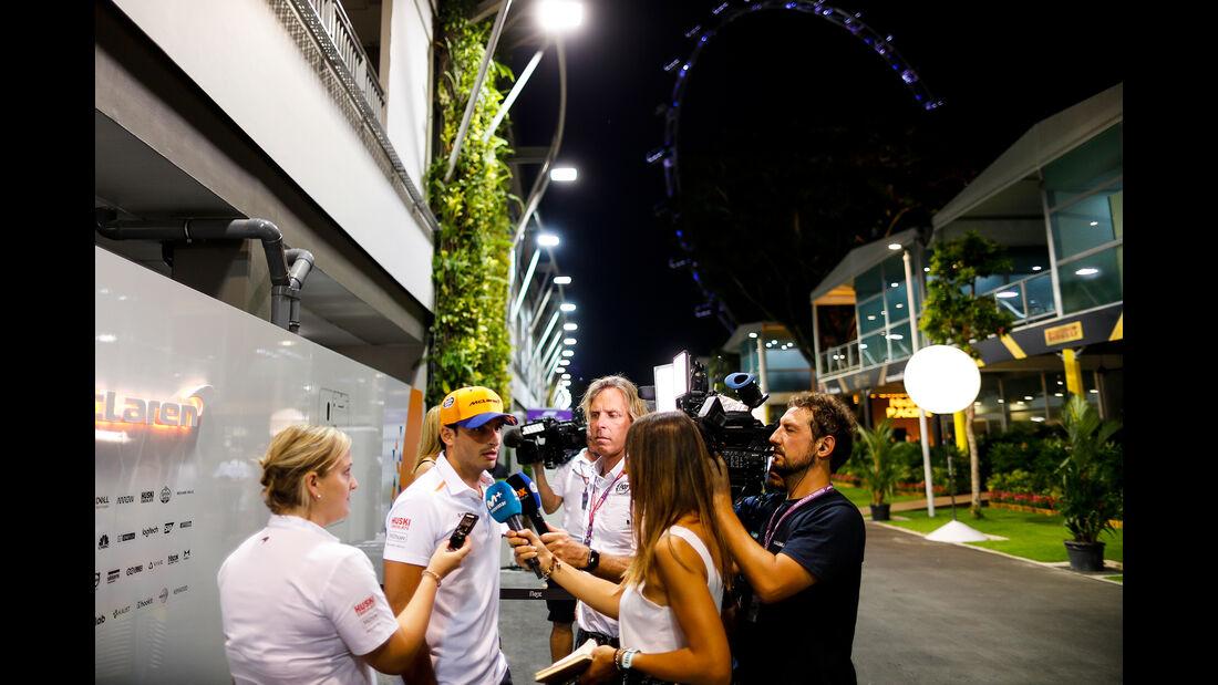 Carlos Sainz - McLaren - GP Singapur - Formel 1 - Donnerstag - 19.9.2019