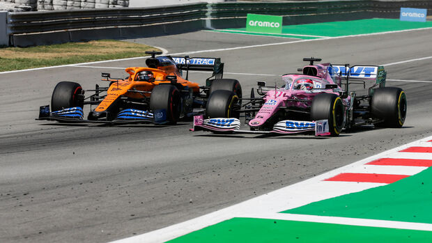 Carlos Sainz - McLaren - Sergio Perez - Racing Point - GP Spanien 2020 - Barcelona