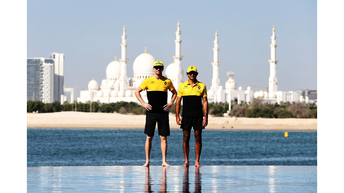 Carlos Sainz & Nico Hülkenberg - Renault - Formel 1 - GP Abu Dhabi - 23. November 2017