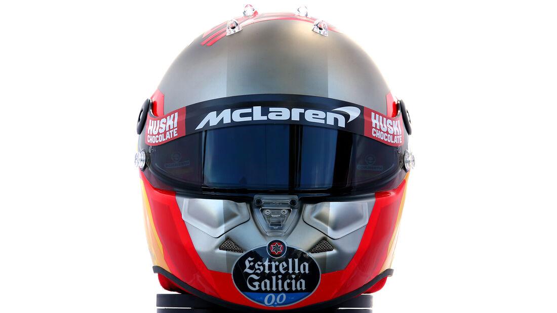 Carlos Sainz - Porträt & Helm - Formel 1 - 2020
