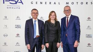 Carlos Tavares (PSA), Mary Barra (GM), Karl-Thomas Neumann (Opel)