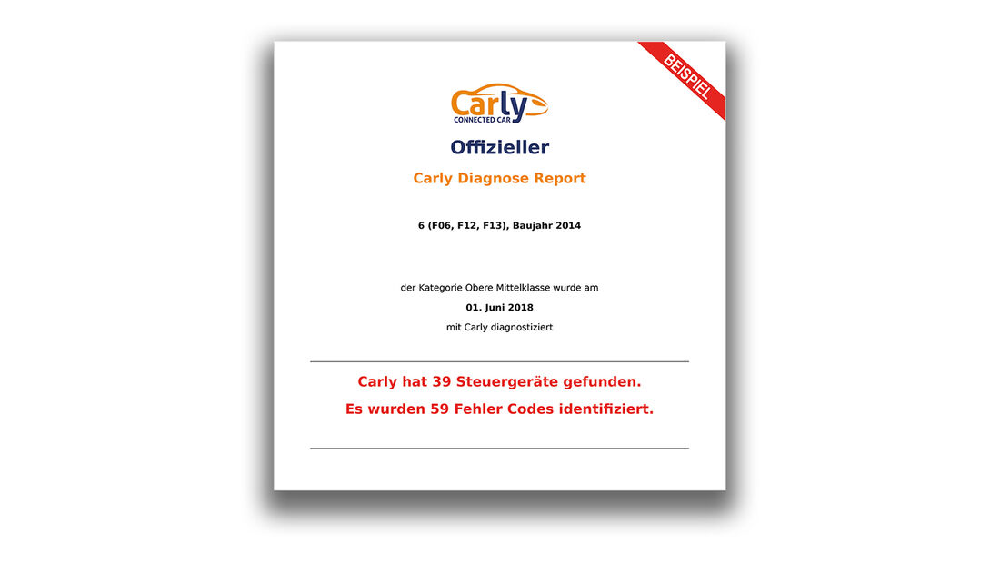 Carly Connected Car Diagnose Advertorial 2018