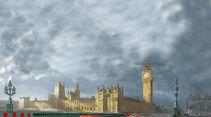 Cars 2, Big Ben, London, Großbritannien