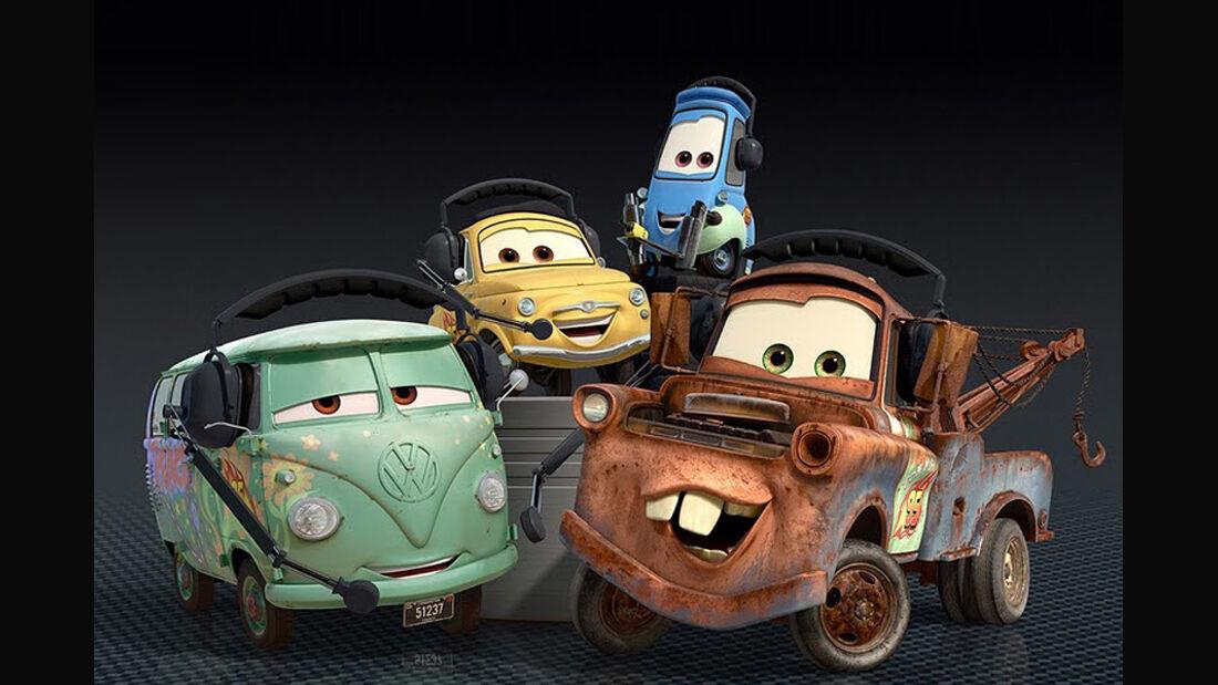Cars 2, Fillmore, Mater, Guido, Luigi