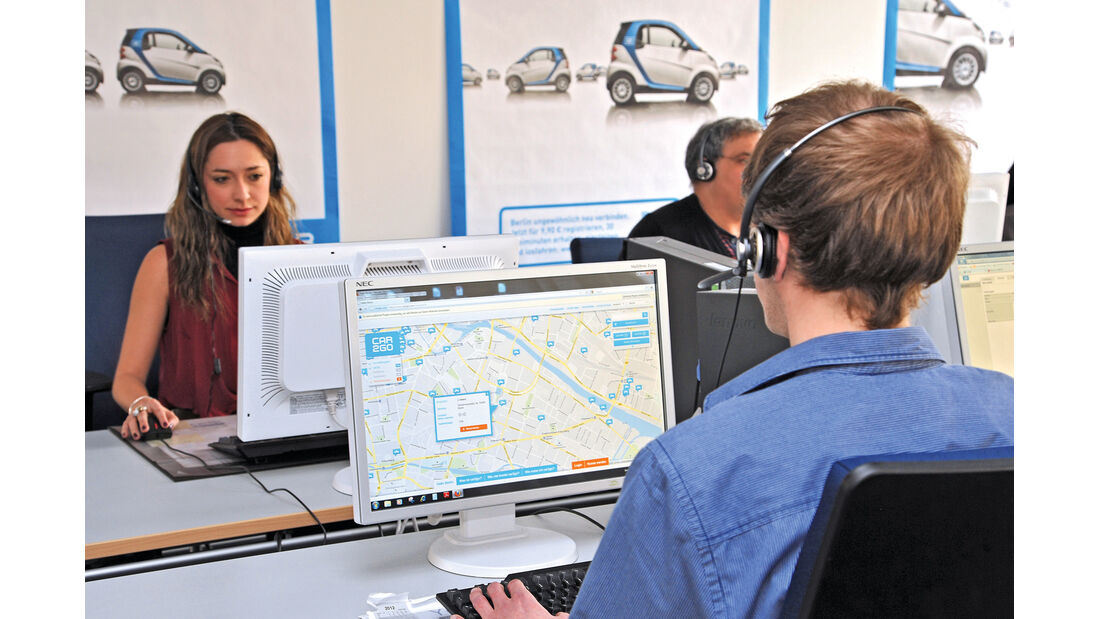 Carsharing, Car2go, Zentrale