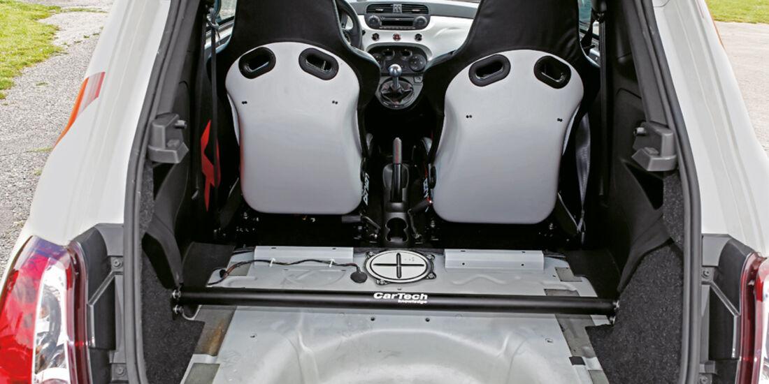 Cartech-Abarth 500 Coppa, Kofferraum