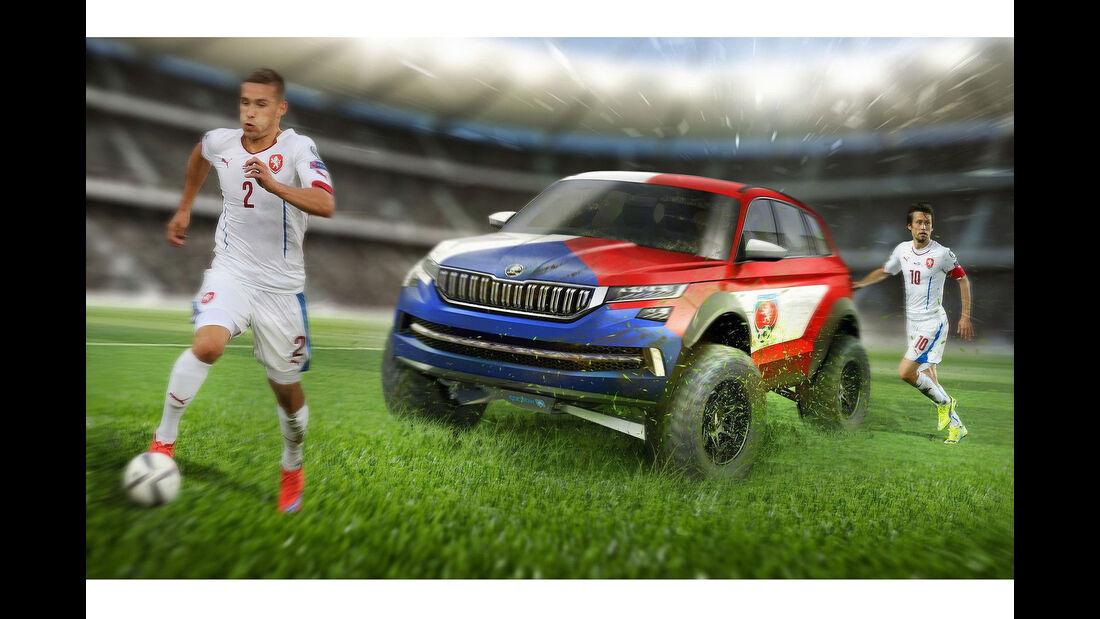 Carwow Euro 2016 Fußball Autos der Länder