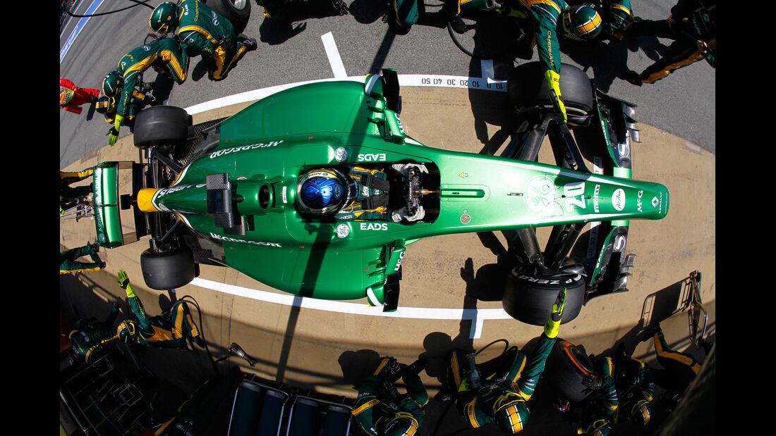 Caterham - Boxenstopp - Formel 1 2013