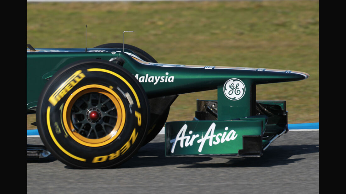 Caterham CT01 Formel 1 Nase Jerez 2012