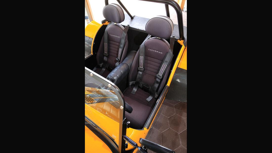 Caterham Seven 355, Fahrersitz
