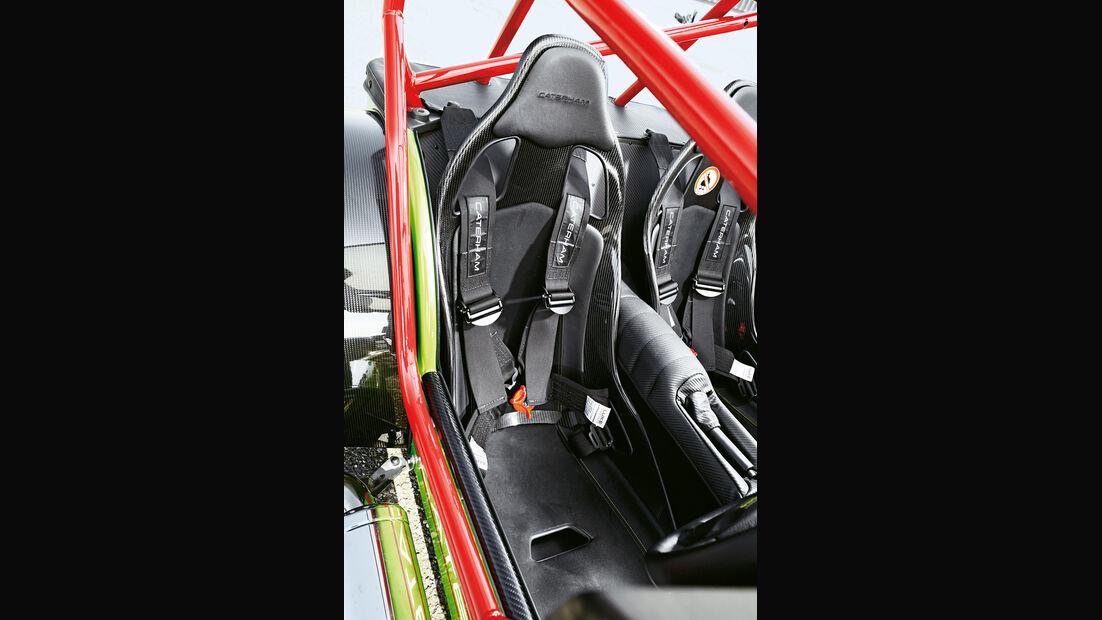 Caterham Seven 620 R, Fahrersitz